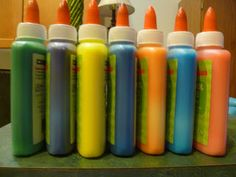 CHANGING GLUE TO FUN COLORED GLUE PAINT! - Mama to 5 Blessings