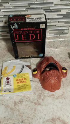 Vintage 1983 Star Wars RETURN OF THE JEDI Admiral Ackbar Kid's Halloween Costume #BenCooper