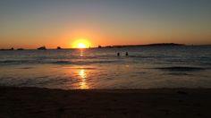 sunset. Punta del este