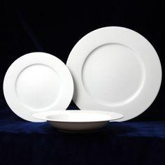 Talířová souprava pro 6 osob (26 cm mělký talíř), Jana bílá, Thun 1794, karlovarský porcelán Number 3, Plates, Tableware, Kitchen, Licence Plates, Dishes, Dinnerware, Cooking, Plate
