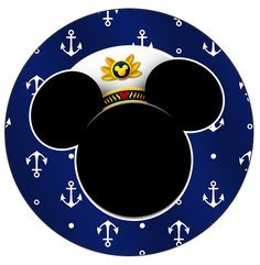 Latinhas, Toppers e Tubetes Mickey Marinheiro Mickey Mouse Cupcakes, Mickey Cakes, Mickey Head, Mickey Minnie Mouse, Disney Cars, Disney Diy, Disney Cruise, Sailor Birthday, Mickey Birthday