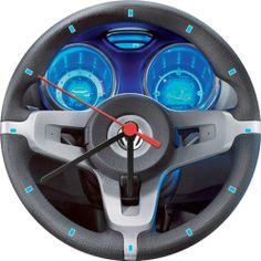 IROC Steering Wheel Decor Wall Clock