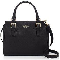 Kate Spade Cobble Hill Noelle ($328) ❤ liked on Polyvore featuring bags, handbags, satchels, weekend bag, real leather handbags, leather weekender, genuine leather purse and kate spade satchel