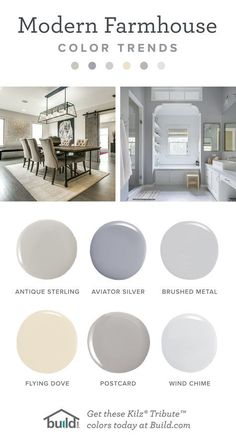Farmhouse Living Room Paint Colors Modern Farmhouse Paint Colors by Kilz with Images Paint Colors For Living Room, Paint Colors For Home, Living Room Grey, Living Room With Fireplace, Paint Colours, Modern Paint Colors, Living Rooms, Bedroom Colors, Wall Colors