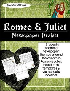 Romeo and juliet newspaper article ideas
