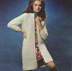INSTANT DOWNLOAD PDF Vintage Crochet Pattern   1970s Coat Jacket Retro $2.53