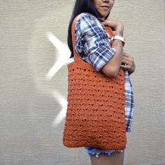Crochet tote bag shoulder bag 100% cotton avoska handmade bag #crochet #tote #bage #socksandmittens