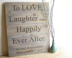 Custom Wedding Signs - Rustic Barn Wood Pallet - Country Farm Outdoor Weddings, Anniversary Gift, Personalized Fall & Winter Wedding | http://bestweddingideasplanning.blogspot.com