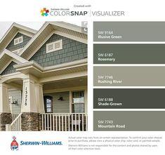 Mountain Home Exterior Paint Colors Mountain Home Exterior Paint Colors Best Of House Paint Color Guide Photos. Exterior Paint Color Combinations, Exterior Color Palette, Exterior Paint Schemes, House Paint Color Combination, Color Combos, Green Exterior Paints, Best Exterior Paint, House Paint Exterior, Diy Exterior