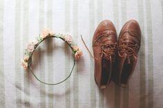 vintage shoes + flower crown
