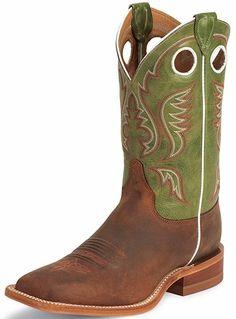 f431c9f7bb5f mens square toe cowboy boots 10 green