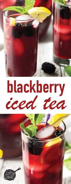 The proper fruity iced tea drink Blackberry Iced Tea! The proper fruity iced tea drink Refreshing Drinks, Fun Drinks, Yummy Drinks, Healthy Drinks, Mixed Drinks, Beverages, Ice Tea Drinks, Cold Drinks, Healthy Food