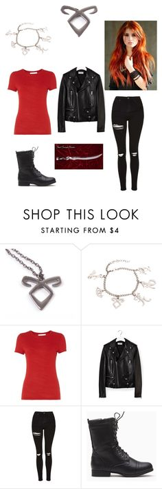 """""""Clary Fray"""" by fangirl2damax ❤ liked on Polyvore featuring HUGO, Yves Saint Laurent, Topshop and tmi"""