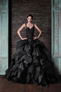 Stunning black ball gown. Rami Kadi