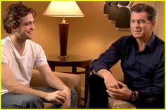 Robert Pattinson & Pierce Brosnan Tackle Artist on Artist, March 2010