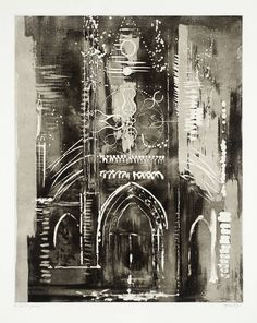 Artwork page for 'Église de Vernon, Normandy', John Piper, 1972 Nocturne, Gcse Art Sketchbook, Vernon, Urbane Kunst, A Level Art, Art And Architecture, Classical Architecture, Ancient Architecture, Sustainable Architecture