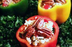 Gevulde paprika's met kerrie bulgur en geroosterde boerenkool | Francesca Kookt