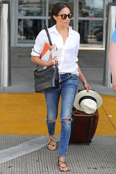 Where to Buy the Leather Tech Case Meghan Markle Always Travels with | The future royal has been photographed carrying this accessory many times.