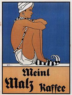 Mixed Media - Meinl Malz Kaffee - Coffee Malt - Vintage Advertising Poster by Studio Grafiikka , Vintage Advertising Posters, Retro Poster, Vintage Travel Posters, Vintage Advertisements, Vintage Ads, Coffee Poster, Coffee Art, Potpourri, Art Nouveau Poster
