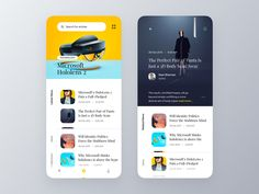 Tech News App. by Wahab #uidesign #appdesign