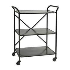 Sort rullebord i jern - super til køkken eller stuen