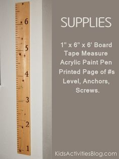 Watch the Kids Grow – Measure them with a Ruler