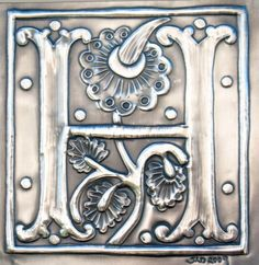 Initial letter H Pewter Monogram by ARCHIVES on Etsy, £60.00