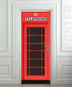 British phone booth door.