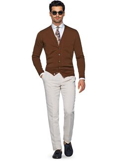 Brown Cardigan Sw602 | Suitsupply Online Store