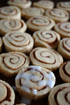 Cinnamon roll cookies....but made with my snicker doodle recipe...gotta try it!