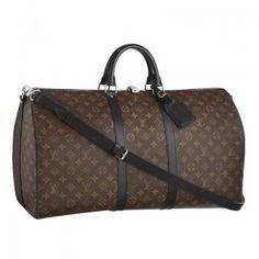 Louis Vuitton Keepall 55 M56714 mit Schultergurt Louis Vuitton Herren Reise Taschen