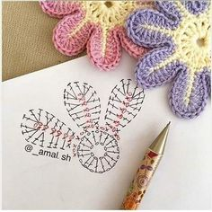 sh have a nice day my friends 💕💕 This Pin was discovered by Ayn Crochet Bedspread Patterns Part 15 - Beautiful Crochet Patterns and Knitting Patterns Crochet Flower - Chart ❥ hi Florzinha linda Via Marque-pages Au Crochet, Beau Crochet, Crochet Motifs, Crochet Diagram, Crochet Chart, Irish Crochet, Simply Crochet, Crochet Flower Tutorial, Crochet Flower Patterns