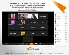 First webinar on 'Search Engine Optimization - The First Stepping Stone of Digital Marketing' with registered members. Missed this webinar? Join once again for the second repeat webinar tomorrow. Digital Marketing Services, Social Media Marketing, Search Engine Optimization, Repeat, Seo, University, Join, Workshop, Atelier