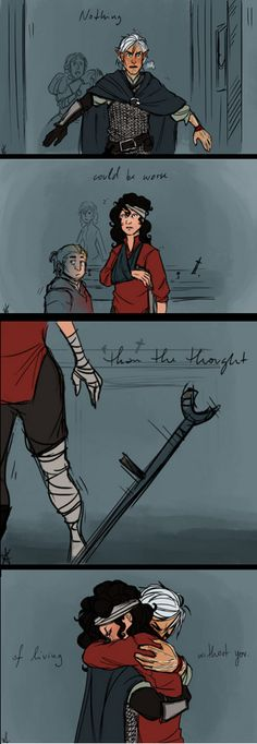 Dragon Age Fenris and Hawke --> Words cannot describe how much I love this!!! <3