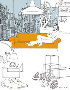 Anna Sutor - Ron Gilad on his sofa