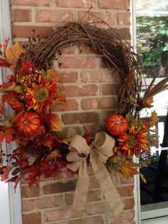 Grapevine Fall Wreath- LOVE this wreath!   Emilywills, Let's go get the stuff to make one, shall we! :)