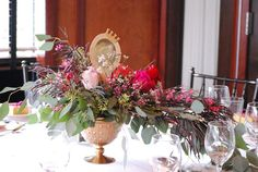 Floral Arrangement from a Snow White Inspired Baptism Celebration via Kara's Party Ideas KarasPartyIdeas.com (8)