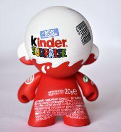 Kinder SURPRISE Custom Munny by Kokimoto 2010 Vinyl Toys, Vinyl Art, Blender 3d, Ice Cream Packaging, Free To Use Images, Pikachu, Pokemon, Fudge Brownies, Designer Toys
