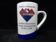 Full colour digital print onto coffee mugs