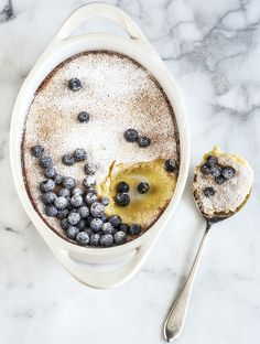 meyer lemon blueberry pudding