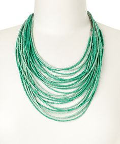 Look at this ZAD Mint Bead Graduating Necklace on #zulily today!