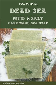 This handmade hot process soap recipe is FABULOUS! The sea salt and green clay along with the pumice make a bar of high lather, super skin conditioning homemade natural soap. Soap Making Recipes, Homemade Soap Recipes, Diy Cosmetic, Sea Salt Soap, Melt And Pour, Savon Soap, Dead Sea Mud, Natural Beauty Recipes, Piel Natural