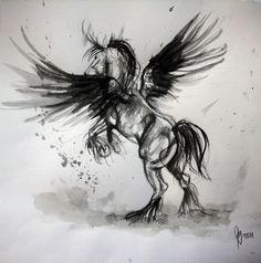 Pegasus tattoo designs - Page 10 - Tattooimages. Pegasus Tattoo, Watercolor Paintings Of Animals, Watercolor Horse, Watercolor Tattoo, Cowgirl Tattoos, Horse Tattoos, Bow Tattoo Designs, Brush Tattoo, Tattoo Art