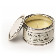Elderflower Champagne Filled Tin by Pintail Candles