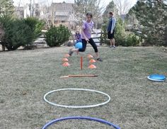 Get kids active and outdoors with a backyard obstacle course. Obstacle courses build important gross motor skills, develop muscles, develop coordination, help motor planning, increase endurance, and increase confidence! ot-activities-ideas personal-development personal-development personal-development