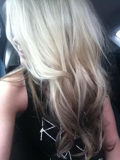 reverse ombre extensions. Kind of what my hair is going to look like!(: