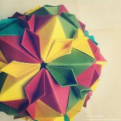 Modular Origami (Cherry Blossom Ball) 2 by MadSoulChild.deviantart.com