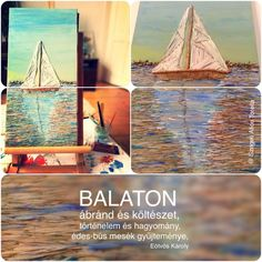 I would like to share with you my first work of art about Balaton. What makes the biggest Hungarian Lake special? In any cases the dance of the colors that are reflected on water. Balaton is the place, where silence have a special sound, and where the blue-green hugs you with love.  BALATON: Painted with bulrush and acrylic paint, on 50x20cm canvas. #ecoart #organicart #craft #balaton  #green Hug You, Busan, Some Words, Hugs, Blue Green, Alice, Environment, Cases, Craft