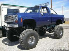 Lifted Blue Chevy K Pickup