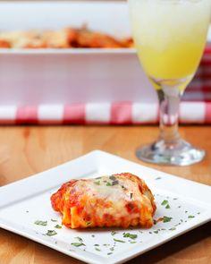 Chicken Parma Lasagna Rolls